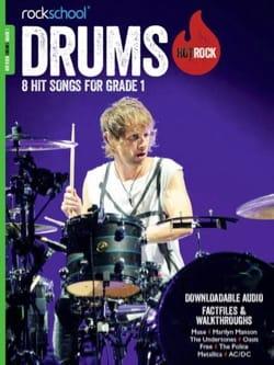 Drums Hot Rock Grade 1 - Rockschool 8 Hit Songs - laflutedepan.com
