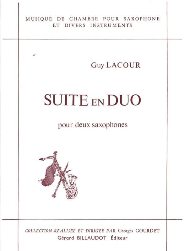 Suite En Duo - Guy Lacour - Partition - Saxophone - laflutedepan.com