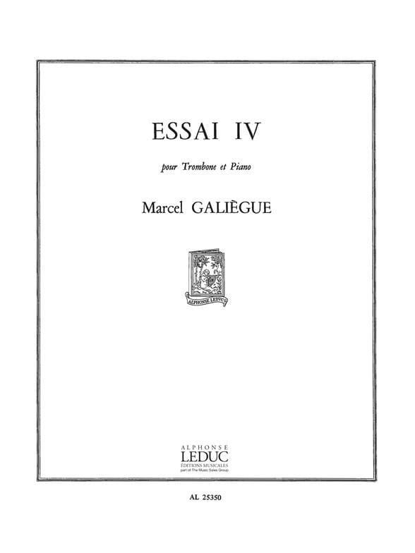 Essai 4 - Marcel Galiègue - Partition - Trombone - laflutedepan.com