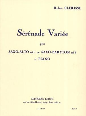 Sérénade Variée Robert Clérisse Partition Saxophone - laflutedepan