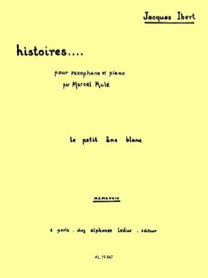 Jacques Ibert - Stories The Little White Ane - Partition - di-arezzo.co.uk