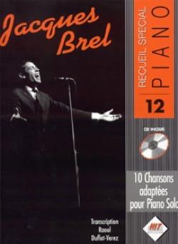 Recueil Spécial Piano N° 12 Jacques Brel Partition laflutedepan