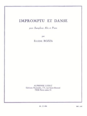 Impromptu Et Danse Eugène Bozza Partition Saxophone - laflutedepan