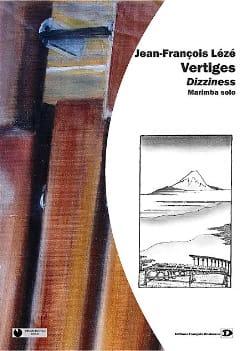 Vertiges - Jean-François Lézé - Partition - Marimba - laflutedepan.com