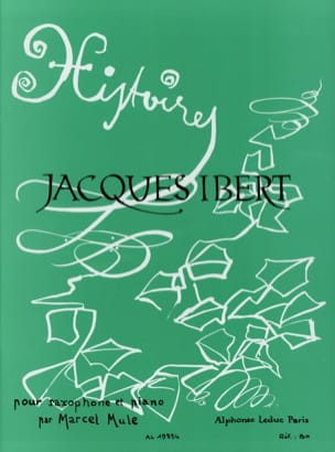 Histoires Recueil IBERT Partition Saxophone - laflutedepan