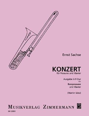 Konzert In Fa Majeur Ernst Sachse Partition Trombone - laflutedepan