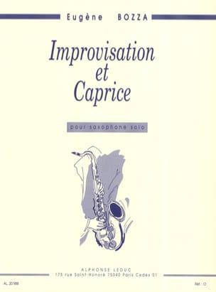 Eugène Bozza - Improvisation and Caprice - Partition - di-arezzo.co.uk