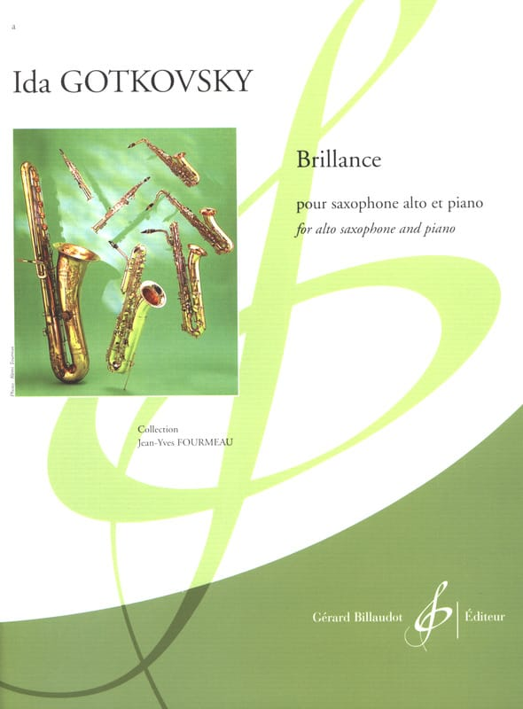 Brillance - Ida Gotkovsky - Partition - Saxophone - laflutedepan.com