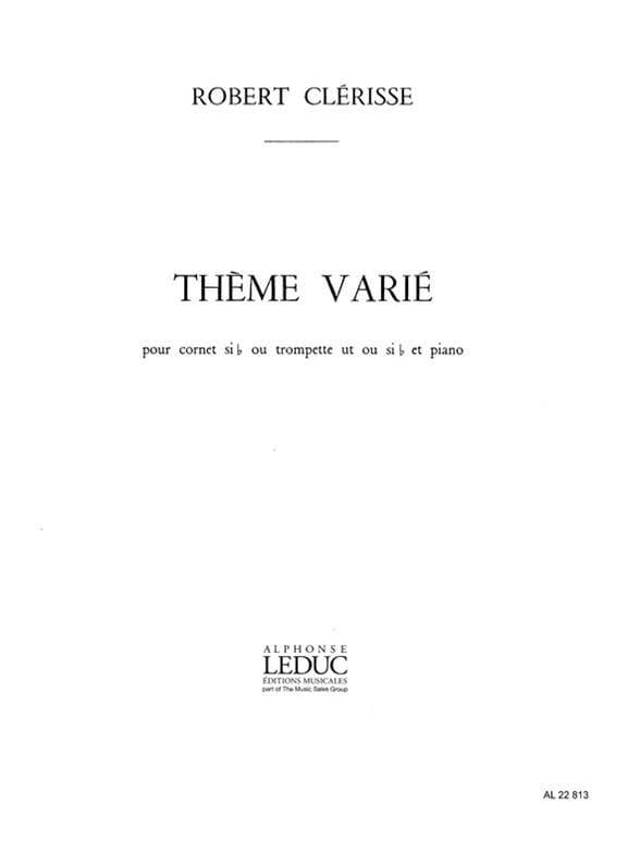 Thème Varié - Robert Clérisse - Partition - laflutedepan.com