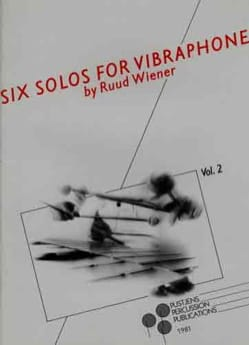 6 solos for vibraphone volume 2 Ruud Wiener Partition laflutedepan