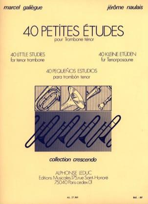 40 Petites Etudes Galiègue M. / Naulais J. Partition laflutedepan