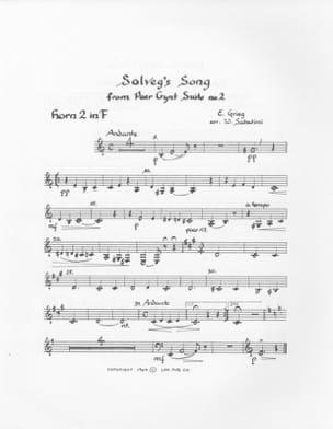 Solvejg's Song Peer Gynt Suite - GRIEG - Partition - laflutedepan.com