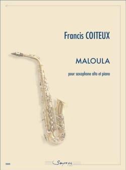 Maloula - Francis Coiteux - Partition - Saxophone - laflutedepan.com