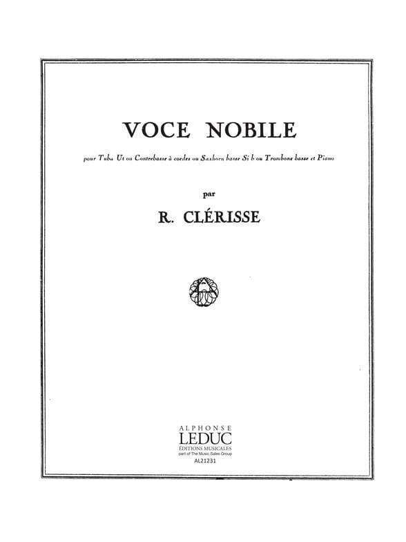 Voce Nobile - Robert Clérisse - Partition - Tuba - laflutedepan.com