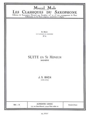Suite En Si Mineur Badinerie BACH Partition Saxophone - laflutedepan