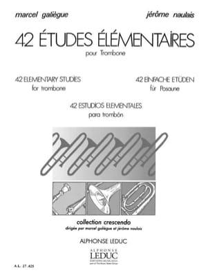 42 Etudes élémentaires Galiègue M. / Naulais J. Partition laflutedepan