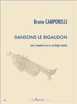 Dansons le rigaudon Bruno Camporelli Partition laflutedepan