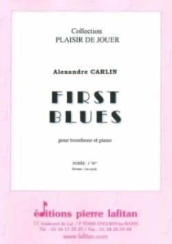 First blues - Alexandre Carlin - Partition - laflutedepan.com