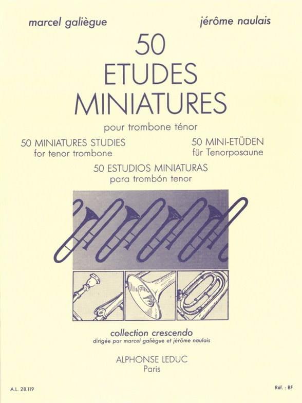 50 Etudes miniatures - Galiègue M. / Naulais J. - laflutedepan.com