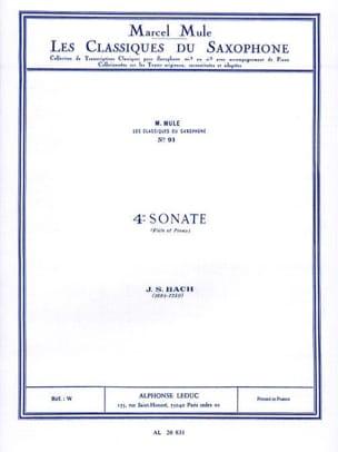 4e Sonate Flute BACH Partition Saxophone - laflutedepan