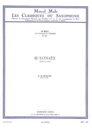 6e Sonate Flûte BACH Partition Saxophone - laflutedepan