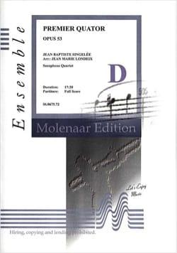 Premier Quatuor Opus 53 Jean-Baptiste Singelée Partition laflutedepan