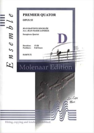Premier Quatuor Opus 53 - Jean-Baptiste Singelée - laflutedepan.com