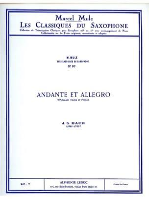 Andante et Allegro BACH Partition Saxophone - laflutedepan