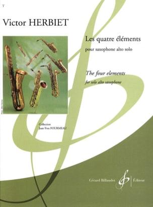 Les Quatre Eléments Victor Herbiet Partition Saxophone - laflutedepan