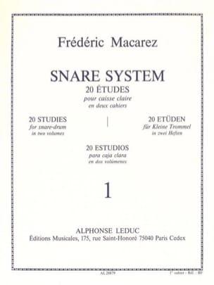 Snare System Volume 1 - 20 Etudes Frédéric Macarez laflutedepan