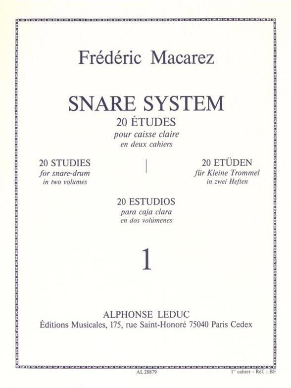 Snare System Volume 1 - 20 Etudes - laflutedepan.com