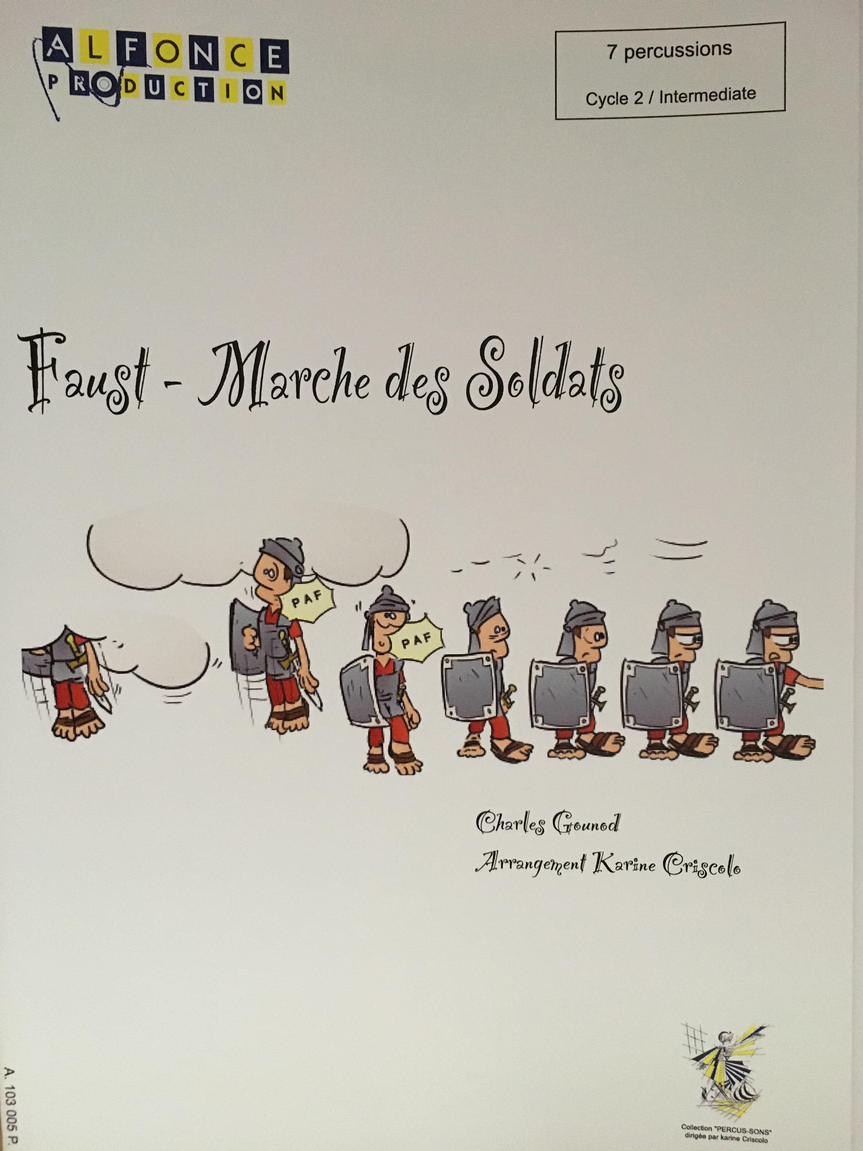 Marche des Soldats (Faust) - GOUNOD - Partition - laflutedepan.com