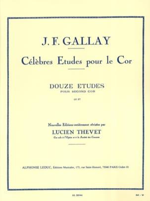 12 Etudes Pour Second Cor Opus 57 Jacques-François Gallay laflutedepan