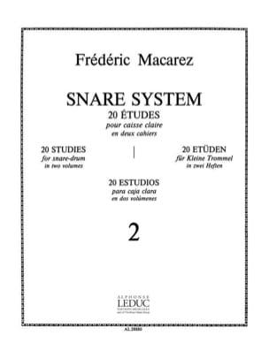 Snare System Volume 2 - 20 Etudes Frédéric Macarez laflutedepan