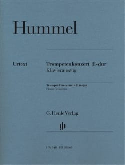 Trompetenkonzert E-Dur HUMMEL Partition Trompette - laflutedepan