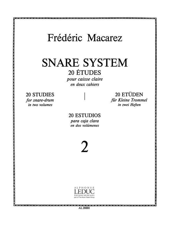 Snare System Volume 2 - 20 Etudes - laflutedepan.com