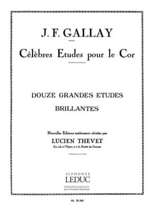 12 Grandes Etudes Brillantes Gallay / thevet Partition laflutedepan