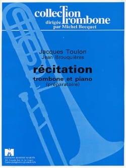 Récitation Jacques Toulon Partition Trombone - laflutedepan