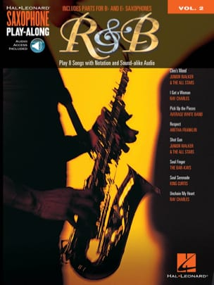 Saxophone Play-Along Volume 2 - R&B Partition laflutedepan
