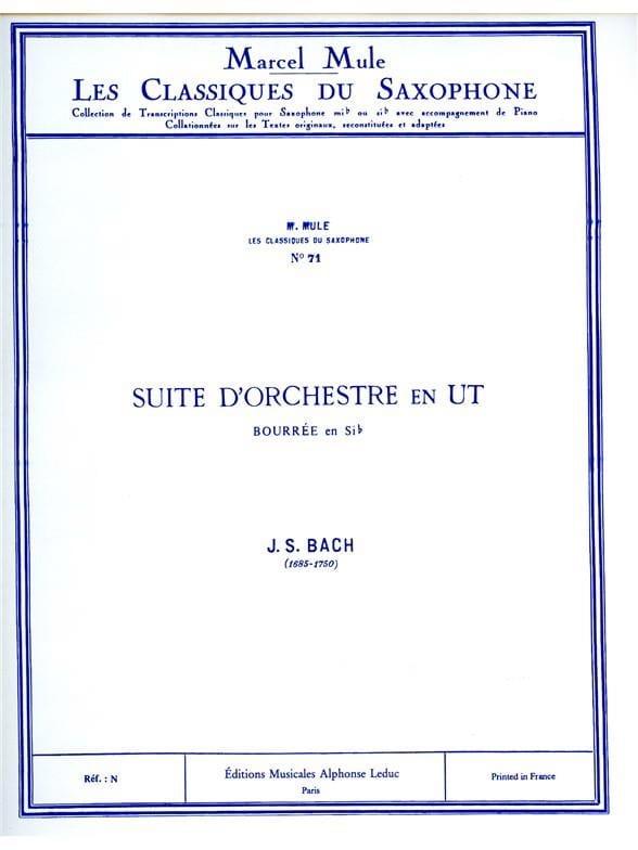 Suite D'orchestre en Ut Bourrée En Sib - BACH - laflutedepan.com