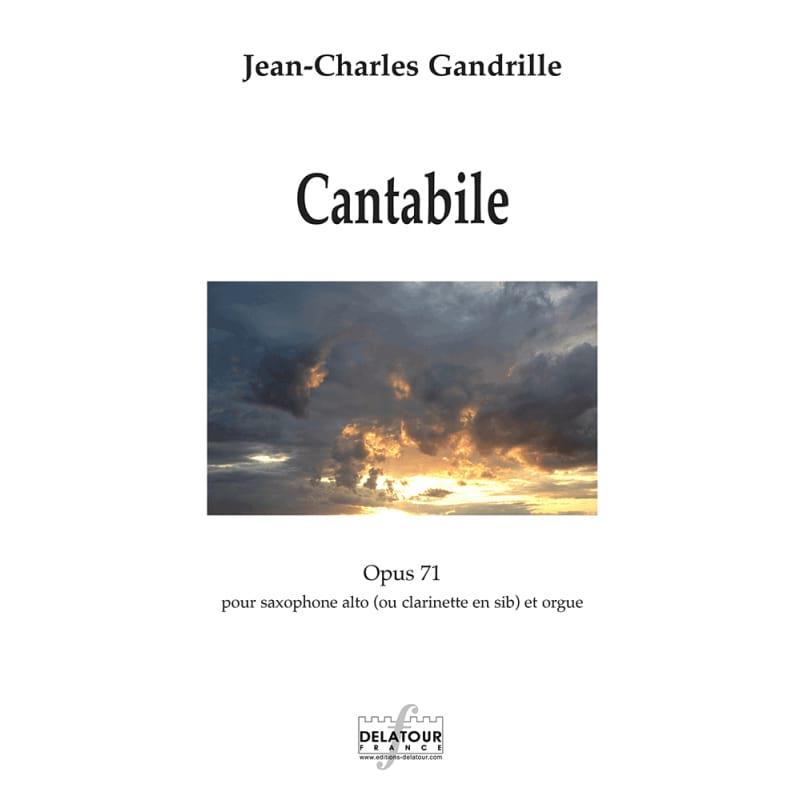 Cantabile - Jean-Charles Gandrille - Partition - laflutedepan.com