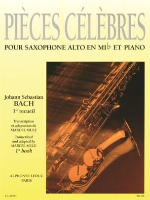 Pièces Célèbres Volume 1 BACH Partition Saxophone - laflutedepan