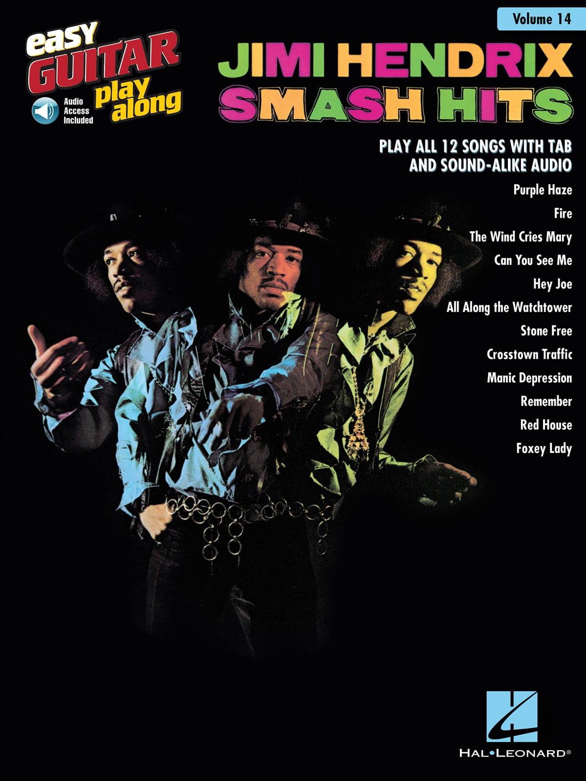Easy Guitar Play-Along Volume 14 - Jimi Hendrix Smash Hits - laflutedepan.com