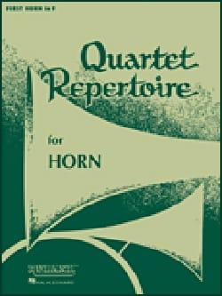 Quartet Repertoire Cor Score Partition Cor - laflutedepan