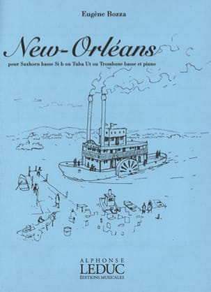 New Orleans Eugène Bozza Partition Tuba - laflutedepan
