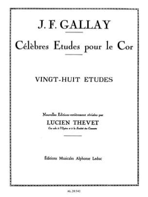 28 Etudes Opus 13 Jacques-François Gallay Partition Cor - laflutedepan