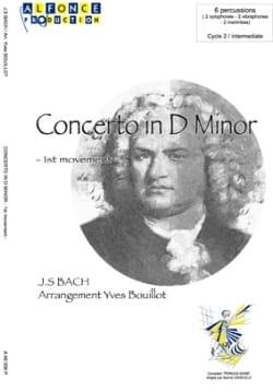 Concerto en D Mineur - 1er mouvement BACH Partition laflutedepan