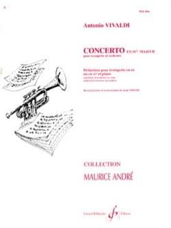 Concerto En Sib Majeur VIVALDI Partition Trompette - laflutedepan