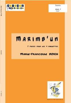 Marimb'un Marie-Françoise Bonin Partition Marimba - laflutedepan