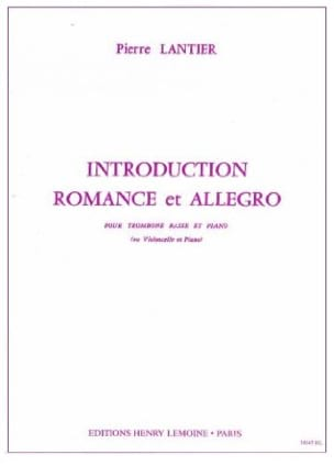 Introduction Romance et Allegro Pierre Lantier Partition laflutedepan